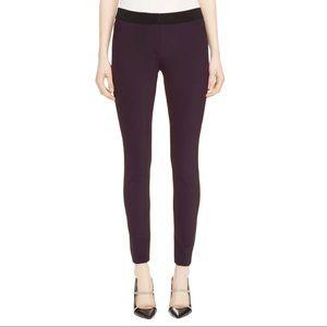 Veronica Beard Purple Mid Rose Scuba Leggings
